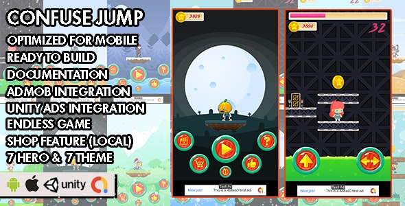 Confuse Jump - Unity Game - Android Hypercasual Game - CodeCanyon Item for Sale