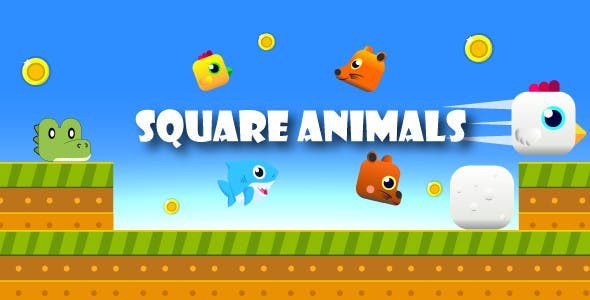 Square Animals | Unity Casual Complete Project for Android and iOS