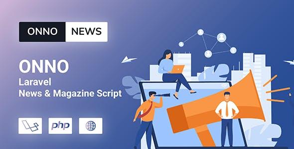 ONNO - Laravel News & Magazine Script