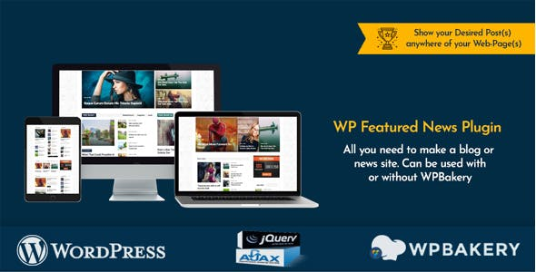 WP Featured News Pro | Custom Posts Listing Plugin