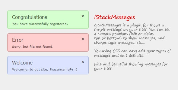 iStackMessages - CodeCanyon Item for Sale