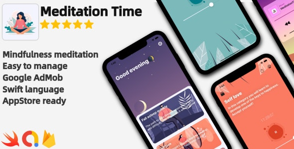 Meditation Time - Full iOS Application - CodeCanyon Item for Sale