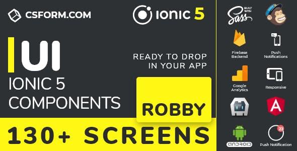 Robby | Ionic 5 / Angular 10 UI Theme / Template App | Multipurpose Starter App