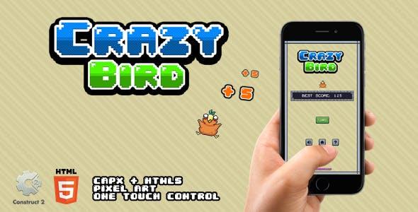 Crazy Bird - HTML5 Game