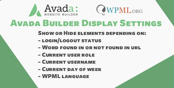 Avada Fusion Builder Display Settings