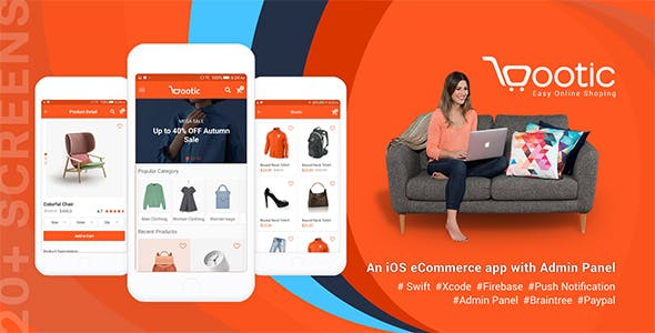 Bootic - An iOS eCommerce app with admin panel
