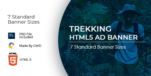 Animated Html5 Trekking Ad Banners Template