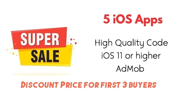 5 iOS Apps Source Code Bundle