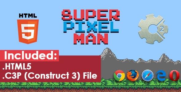 Super Pixel Man - HTML5 Game