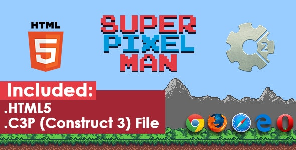Super Pixel Man - HTML5 Game - CodeCanyon Item for Sale
