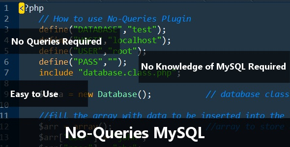 No-Queries MySQL - CodeCanyon Item for Sale