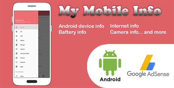 My Mobile Information - Android Application - Device Info - CodeCanyon Item for Sale