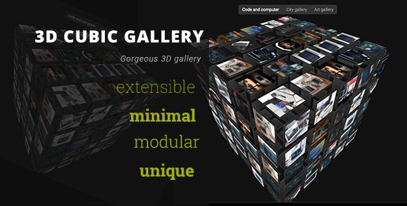3D Cubic Gallery - Advanced Media Gallery - CodeCanyon Item for Sale