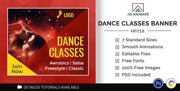 Health & Fitness   Dance Class Banner (HF015)