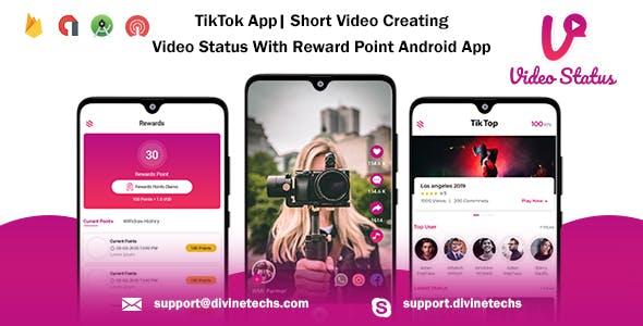 TikTok App| Short Video Creating - Video Status With Reward Point Android App