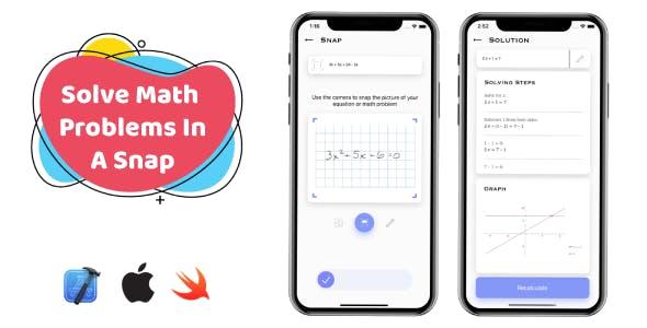 SnapMath - iOS Photo Math Solving App | Multilingual