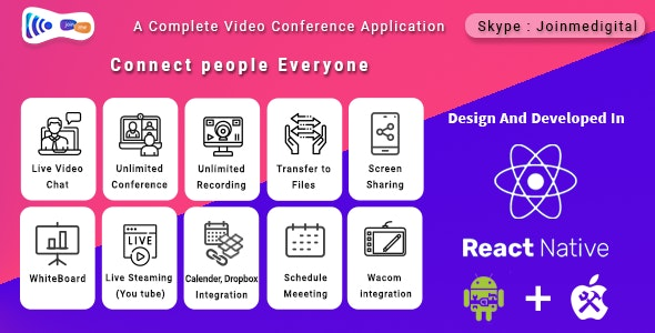 JoinMe Video Conference Tool (Android + iOS + Web APP + Desktop) - CodeCanyon Item for Sale