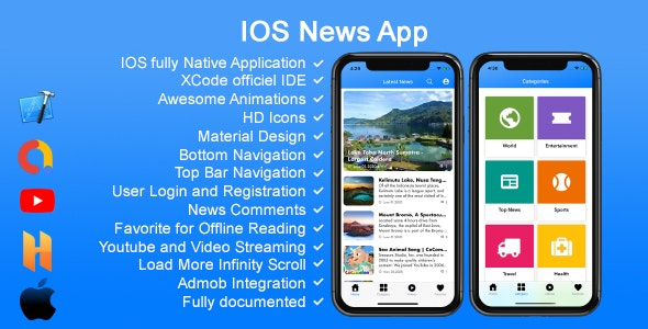 IOS News App - CodeCanyon Item for Sale