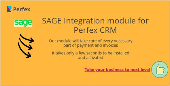 SAGE® Module for Perfex CRM