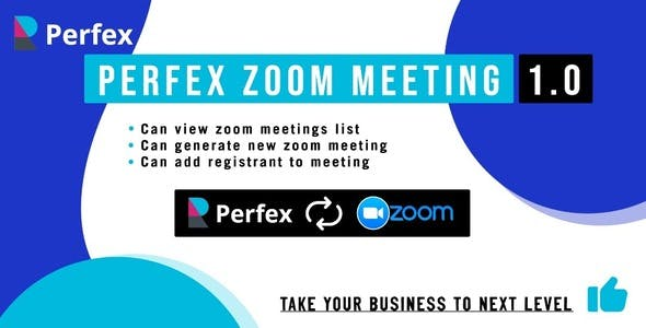 Perfex Zoom Meeting Module