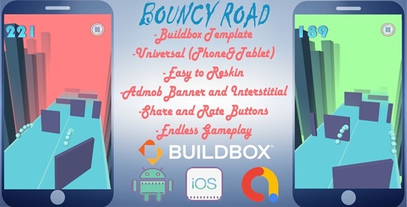 Bouncy Road Buildbox 3 Project - CodeCanyon Item for Sale