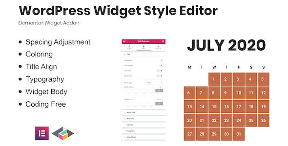WordPress Widget Style Editor Elementor Addon