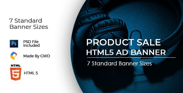 Animated Html5 Product Sale Ad Banners Template