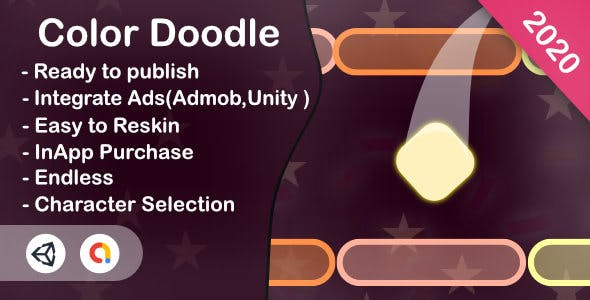 Color Doodle (Unity Game+Admob+iOS+Android)