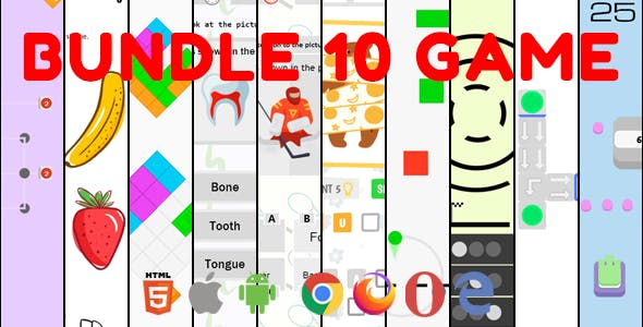 Bundle 10 Game. Mobile, Html5. .c3p (Construct 3)