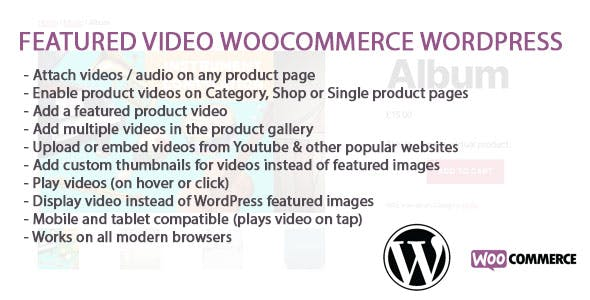 WooCommerce And WordPress Featured Video