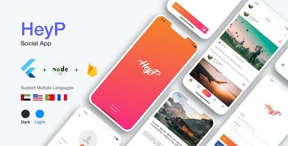 HeyP - Flutter Social App - CodeCanyon Item for Sale