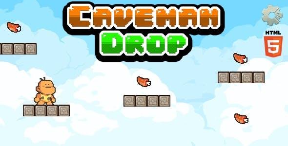 Caveman Drop - Html5 Game