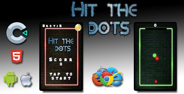 Hit the dots - HTML5 Mobile Game