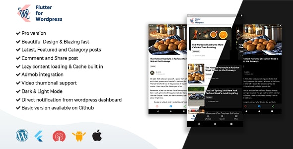 Flutter for Wordpress Pro - CodeCanyon Item for Sale