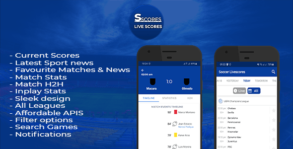 Soccer Scores - Livescores and Sport News - CodeCanyon Item for Sale