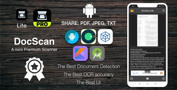 [TS] DocScan Android - A mini and Powerful mobile scanner (Admob, IAP, Push Notifications) - CodeCanyon Item for Sale