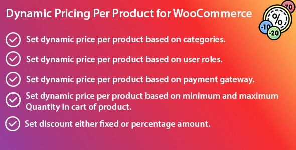 Dynamic Pricing Per Product for WooCommerce - CodeCanyon Item for Sale