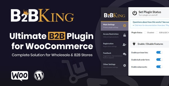 B2BKing - The Ultimate WooCommerce B2B & Wholesale Plugin - CodeCanyon Item for Sale