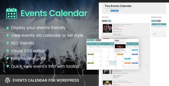 Tiva Events Calendar For Wordpress