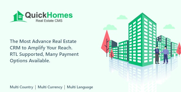 QuickHomes - Real Estate CMS PHP Script - CodeCanyon Item for Sale