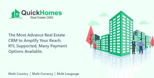 QuickHomes - Real Estate CMS PHP Script
