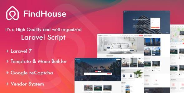 Findhouse - Real Estate Laravel Script