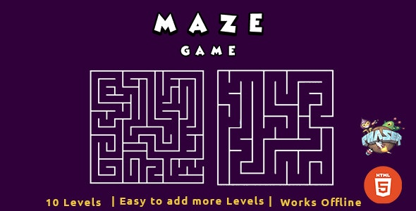 HTML5 Maze Game - Phaser Game - CodeCanyon Item for Sale