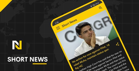 Short News Android App with PHP Script