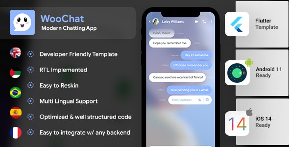 Chatting & Group Chatting Android App Template + iOS App Template | Social App Template | Flutter - CodeCanyon Item for Sale