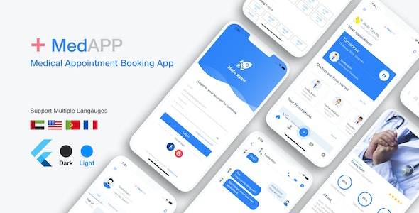 MedAPP - Flutter Medical Appointment Booking App UI - CodeCanyon Item for Sale