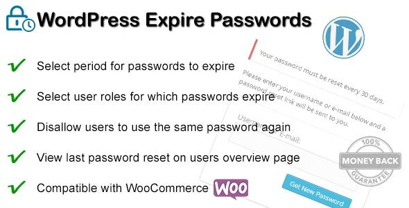 WordPress Expire Passwords - CodeCanyon Item for Sale