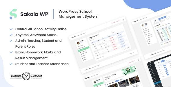 SakolaWP - WordPress School Management System - CodeCanyon Item for Sale