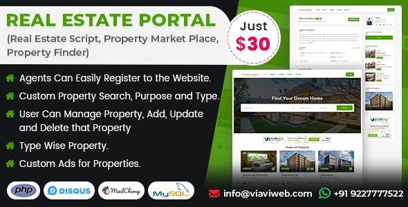 Viavi Real Estate Portal (Real Estate Script, Property)