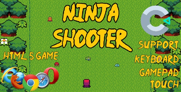 Ninja Shooter HTML5 Game (Includes c3p Construct 3 Source Code) - CodeCanyon Item for Sale